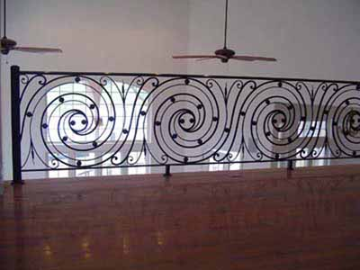 Fabricated iron / metal residential balcony railing